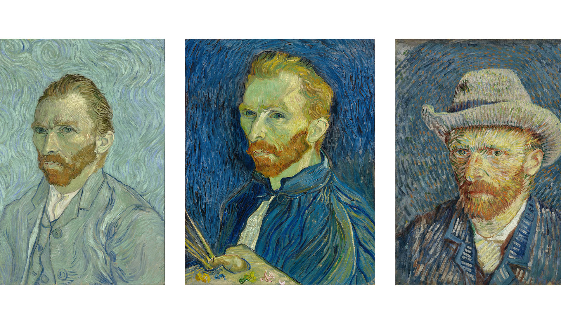 Three Van Gogh Self Portraits