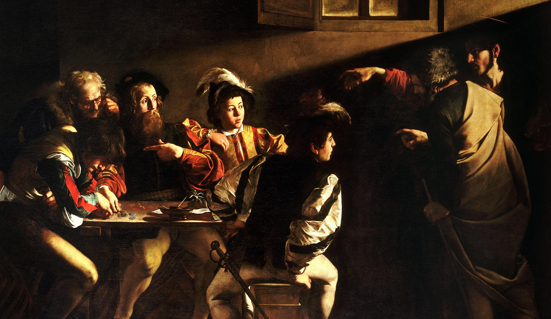 Caravaggio, detail of The Calling of St Matthew