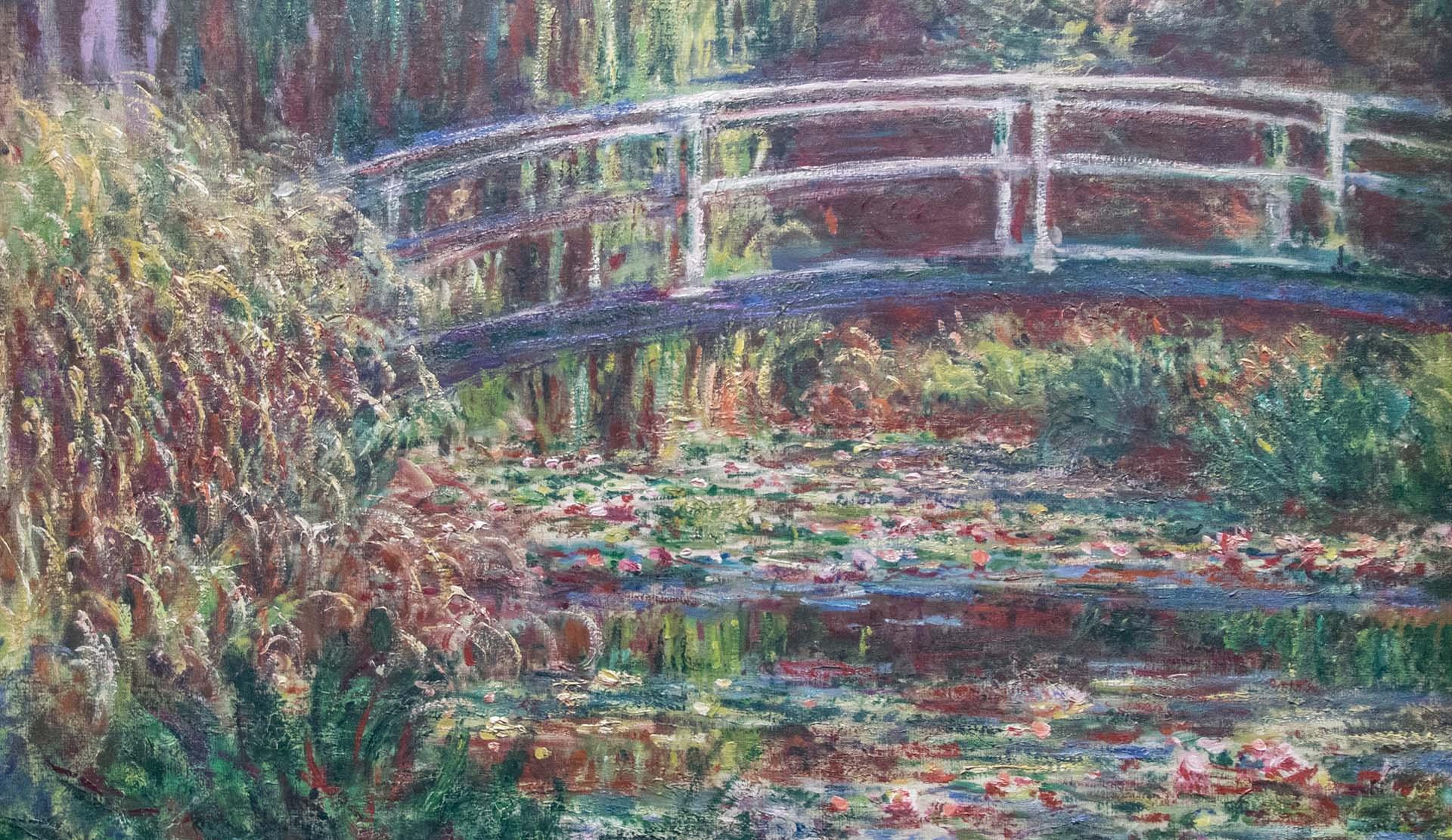Claude Monet, detail of Le bassin aux nymphéas